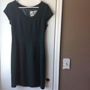 Emerald green wool dress